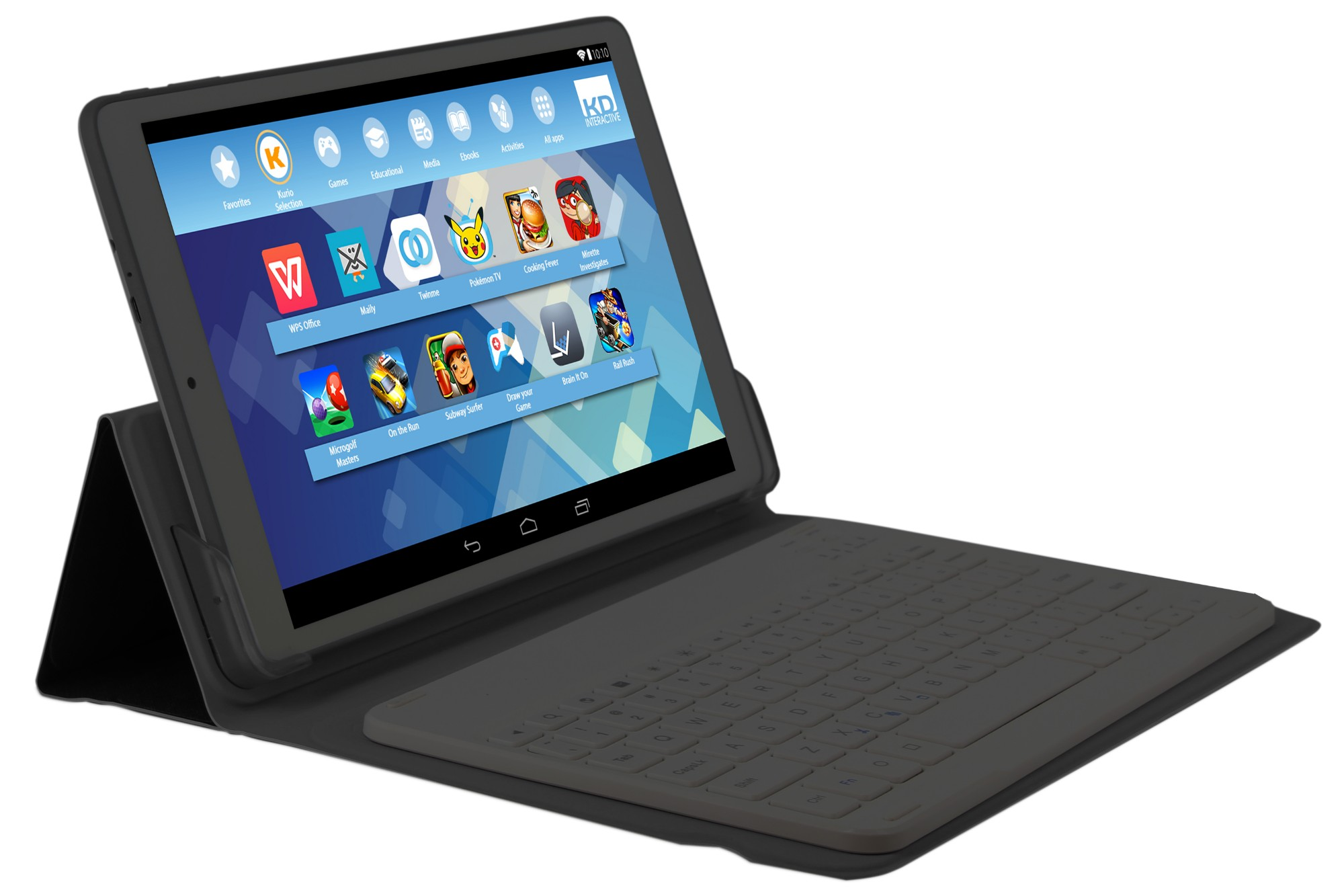 KURIO 2 in 1 10'' Tablet with Keyboard & Case