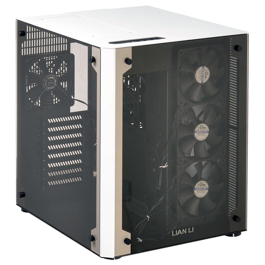 Lian Li PC-O8WBW computer case Midi Tower Black,White
