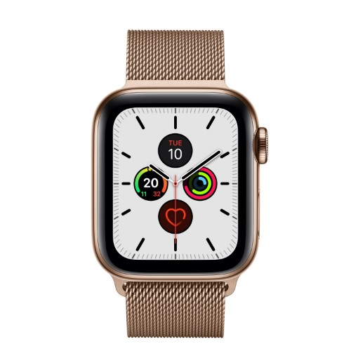 Apple Watch Series 5 smartwatch Gold OLED Cellular GPS (satellite)