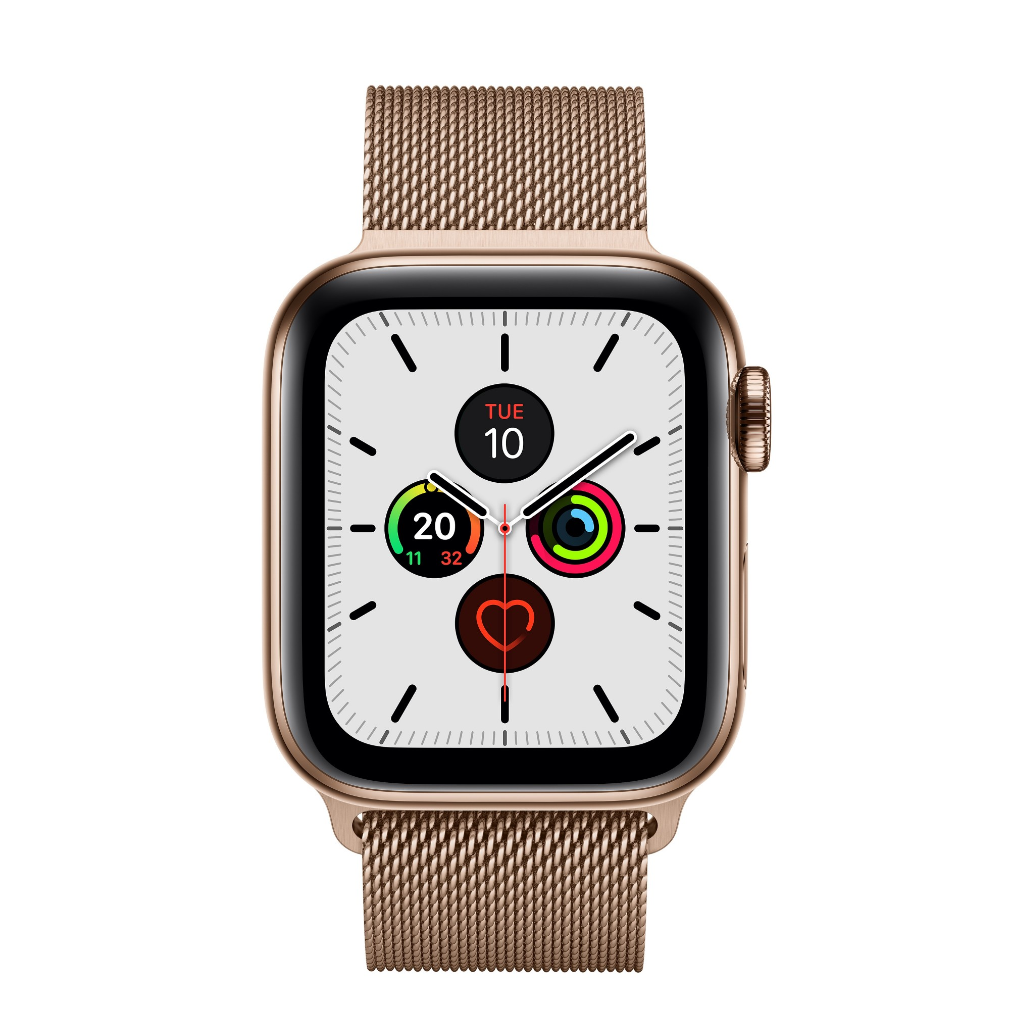 Apple Watch Series 5 smartwatch Gold OLED Cellular GPS satellite