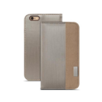 """Moshi Overture mobile phone case 11.9 cm (4.7"""") Wallet case Brown,Silver"""