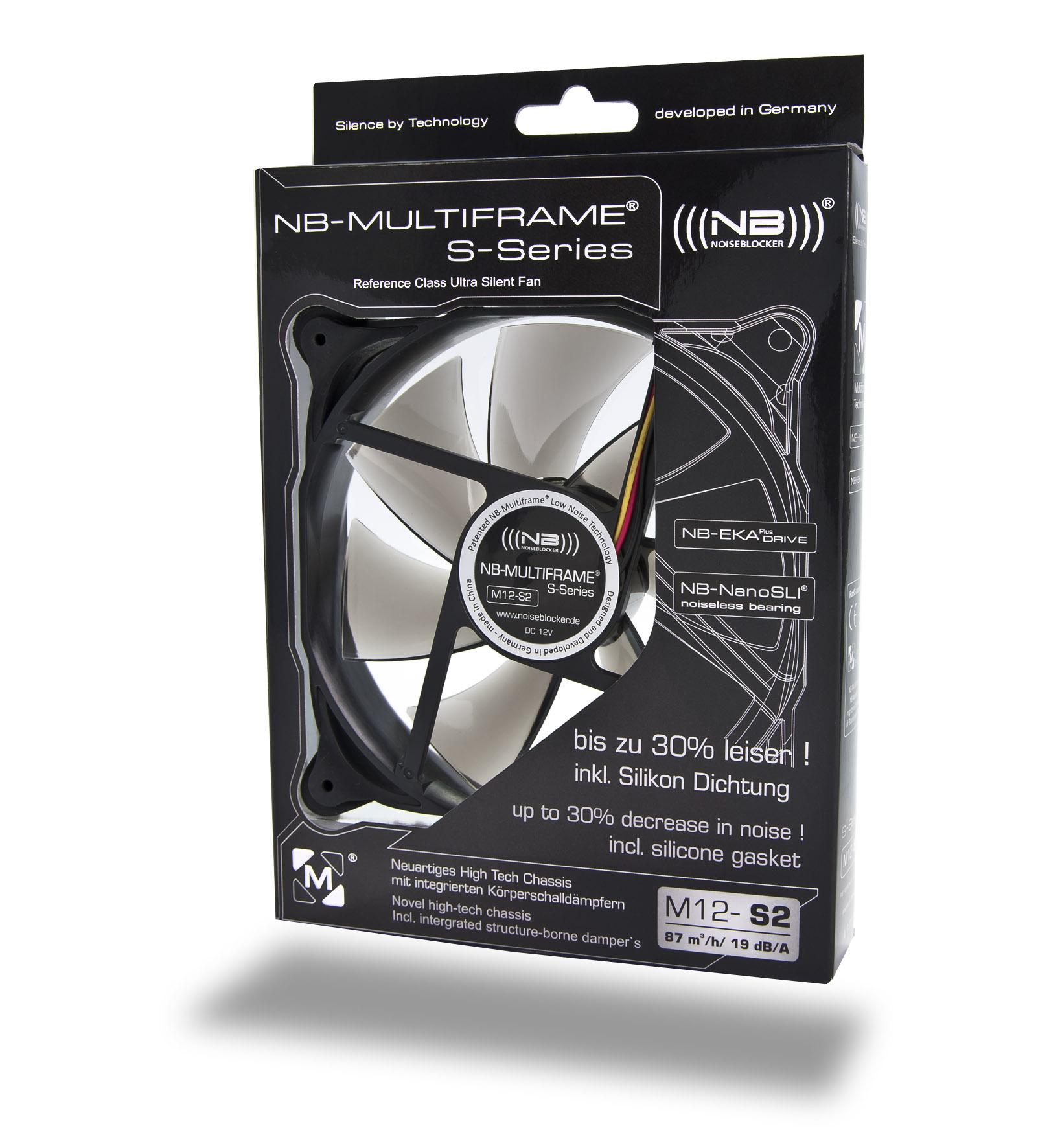 Noiseblocker Multiframe S-Series M12-S2 Fan - 120mm (1250rpm)