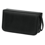 Hama CD Wallet Nylon 120, black 120discs Black