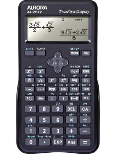 Aurora AX-595TV calculator Pocket Scientific Black