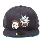 RICK AND MORTY Characters Snapback Baseball Cap, Black/Turquoise (SB081219RMT)