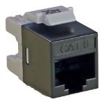 Cablenet Cat6 UTP Punch Down Keystone Jack Component Level Black