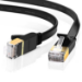 Edimax 2m Black 10GbE Shielded CAT7 Network Cable - Flat