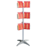 ESSELTE BROCHURE HOLDER CAROUSEL FLOOR STAND 3 TIER DL X 36
