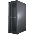 "Intellinet 19"" Server Cabinet, 36U, 1766 (h) x 600 (w) x 1000 (d) mm, IP20-rated housing, Max 1500kg, Flatpack, Black"