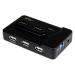 StarTech.com Adaptador Concentrador HUB Ladrón USB 6 Puertos - 2x USB 3.0 -4x USB 2.0 - 1x USB Cargador de 2A