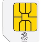 Three Three 3G Broadband Ready-to-go 1GB Nano Sim Card