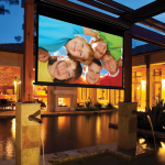 Draper Nocturne E Electric Outdoor Screen 234cm x 146cm 16:10 Contrast Grey XH800E Surface