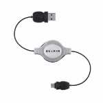 Belkin Micro-USB - USB A, 1 m USB cable Micro-USB B Male Grey, Black