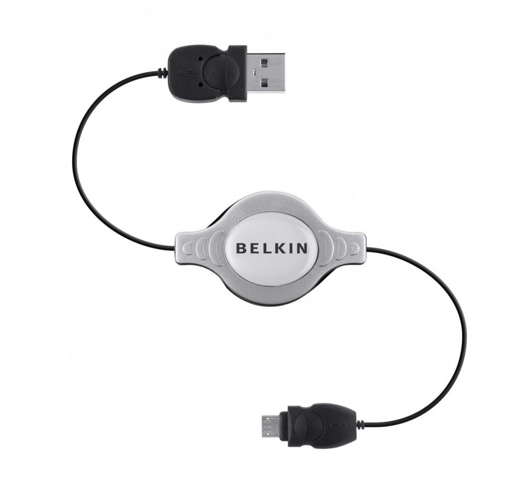 Belkin Micro-USB - USB A, 1 m USB cable 2.0 Micro-USB B Grey,Black