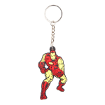Marvel Iron Man Fighting Pose Rubber Keychain, One Size, Red/Gold (KE101428MAR)