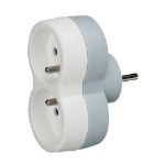 C2G 80807 Indoor 2AC outlet(s) Grey,White power extension