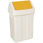 FSMISC 50 LITRE SWING BIN WHITE/YELL 330350353