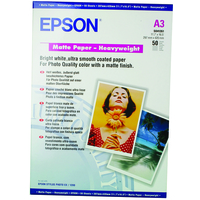 Epson Matte Paper Heavy Weight, DIN A3, 167g/m², 50 Sheets