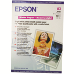 Epson Matte Paper Heavy Weight, DIN A3, 167g/m², 50 Sheets printing paper