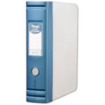 Hermes Box File Polypropylene 80mm Spine A4 Metallic Blue Ref 8BA4007
