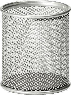 Osco Mesh Pen Pot (Silver) Single