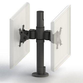 Ergonomic Solutions VESA75/100 Pole w/2 screen mounts, white