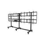 Peerless DS-C555-4X2 multimedia cart/stand Black Flat panel
