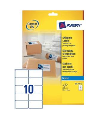 Avery J8173-25 addressing label White Self-adhesive label