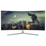 "LC-Power LC-M34-UWQHD-100-C computer monitor 86.4 cm (34"") 3440 x 1440 pixels UltraWide Quad HD Black,Silver,White"