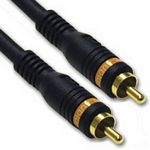 C2G 0.5m Velocity Digital Audio Coax Cable cable coaxial 0,5 m RCA Negro