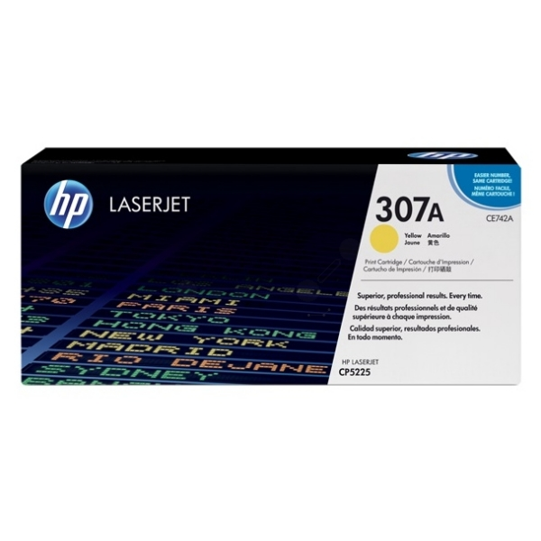 HP CE742A (307A) Toner yellow, 7.3K pages