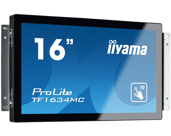 "iiyama ProLite TF1634MC-B6X touch screen monitor 39.6 cm (15.6"") 1366 x 768 pixels Multi-touch Black"