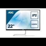 "AOC Style-line I2281FWH pantalla para PC 54,6 cm (21.5"") Full HD LED Plana Mate Negro, Plata"
