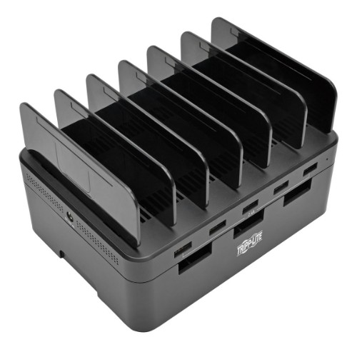 Tripp Lite 5-Port USB Charging Station with Built-In Device Storage, 12V 4A (48W) USB Charger Output