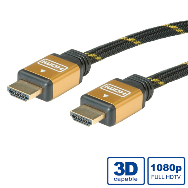 ROLINE GOLD HDMI High Speed Cable + Ethernet, M/M 2 m HDMI cable