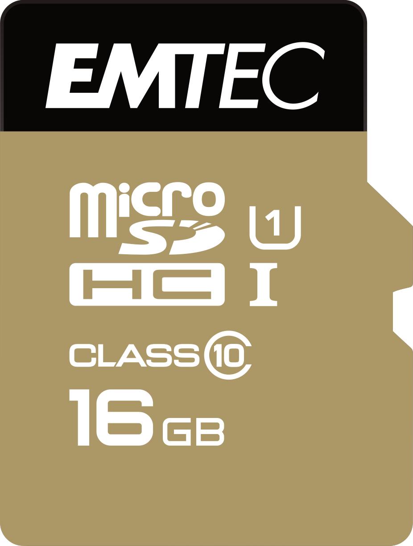Emtec microSD Class10 Gold+ 16GB memory card