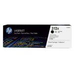 HP 312X Original Zwart 2 stuk(s)