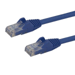 StarTech.com 15m CAT6 Ethernet Cable - Blue CAT 6 Gigabit Ethernet Wire -650MHz 100W PoE++ RJ45 UTP Category 6 Network/Patch Cord Snagless w/Strain Relief Fluke Tested UL/TIA Certified