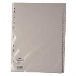 White Box WB INDEX A4 1-31 POLYPROP WHITE