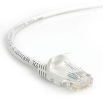 StarTech.com 25 ft White Snagless Category 5e (350 MHz) UTP Patch Cable 7.62m White networking cable