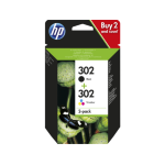 HP 302 2-pack Black/Tri-color Original Ink Cartridges