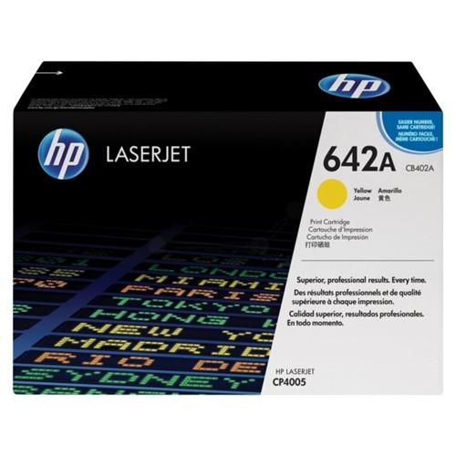 HP Toner Cartridge Yellow F/ CLj CP4005, 7500PGS - CB402A