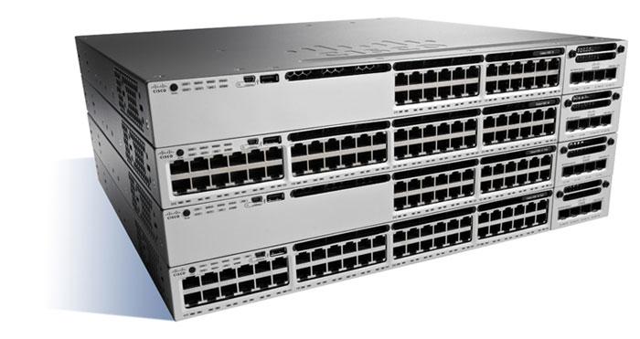 Cisco Catalyst WS-C3850-48U-E Managed Gigabit Ethernet (10/100/1000) Power over Ethernet (PoE) Black, Grey network switch