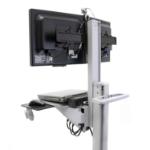 Ergotron Neo-Flex Dual WideView WorkSpace Multimedia cart Gray