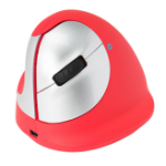 R-Go Tools R-Go HE Sport Ergonomic Mouse, Medium (165-195mm), Left Handed, Bluetooth, Red