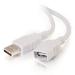 C2G Alargo de 3 m USB 2.0 A macho a A hembra, color blanco