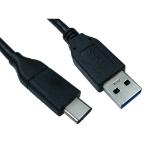 Cables Direct USB3C-921-2M USB cable 3.2 Gen 1 (3.1 Gen 1) USB C USB A Black