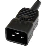 Cablenet 42-0503 electrical power plug C20 3P Black