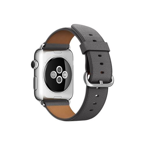 Apple 42mm Classic Buckle - Watch strap - storm grey - for Watch (42 mm), Watch Edition (42 mm), Watch Her