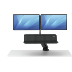 Fellowes Lotus RT Sit-Stand Workstation – Dual Black